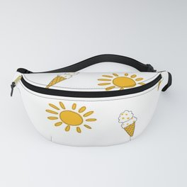 Summer and sunshine in New Zealand in white and yellow pattern Fanny Pack