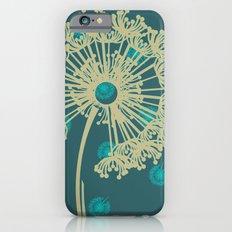DANDELIONS TURQUOISE iPhone 6s Slim Case