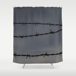 Barb Wire II Shower Curtain