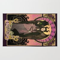 maleficent Area & Throw Rugs featuring Maleficent by Made of Tin