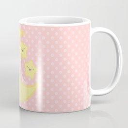 Kawaii Moon and Stars (Pink) Coffee Mug