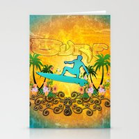 surfing Stationery Cards featuring Surfing by nicky2342