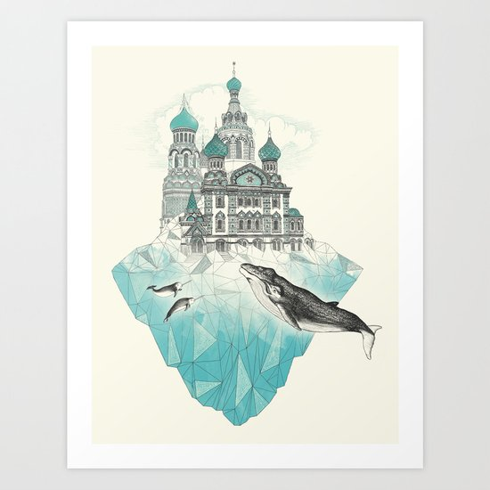st peters-burg Art Print