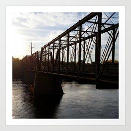 Footbridge over the Chippewa Art Print