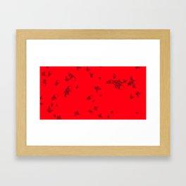 Red pattern Framed Art Print
