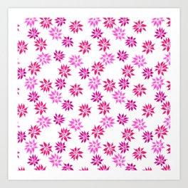 Bright Winter Flowers Art Print