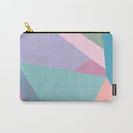 Fractured Triangles in Playful Color Carry-All Pouch