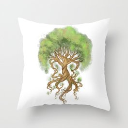 Ygdrasil the tree of life Throw Pillow