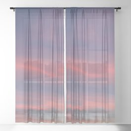 Pink sky in evening Sheer Curtain
