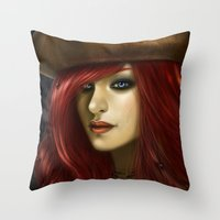 ruby Throw Pillows featuring Ruby by PiccolaRia