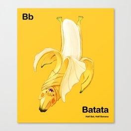 Bb - Batata // Half Bat, Half Banana Canvas Print