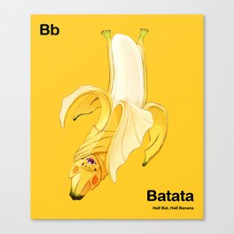 Bb - Batata // Half Bat, Half Banana Canvas Print