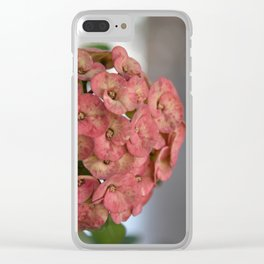 Delicate Pink Blossoms Clear iPhone Case