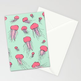 Pastel colors jellyfish Stationery Cards