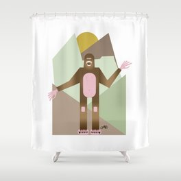 Finding Bigfoot Shower Curtain