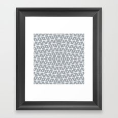 Geo Outline Grey Framed Art Print