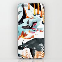 jungle iPhone & iPod Skins featuring Jungle by Adelina Mehmeti