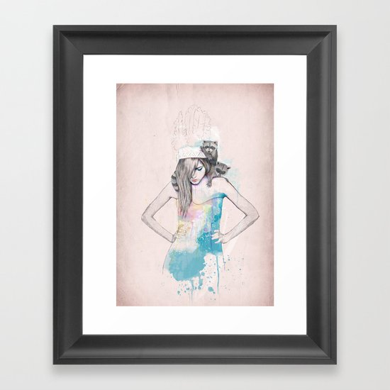 Raccoon Love Framed Art Print