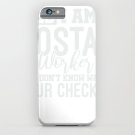 Mail Lady Gift Funny Postal Worker iPhone Case