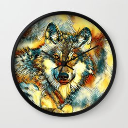 AnimalArt_Wolf_20170601_by_JAMColorsSpecial Wall Clock