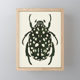 green beetle insect Framed Mini Art Print