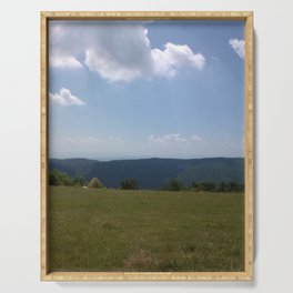Meadow and mountains Serving Tray