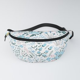 Star Sapphire Floral Celebration Blue Fanny Pack