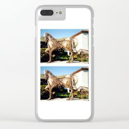 Horse & Plough by Shimon Drory Clear iPhone Case