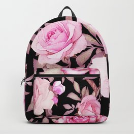 FLORAL PINK & BLACK Backpack