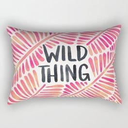 Wild Thing – Pink Ombré & Black Palette Rectangular Pillow