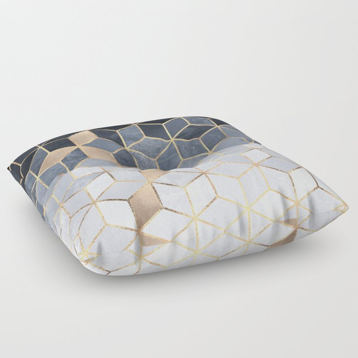 Soft Blue Gradient Cubes Floor Pillow by elisabethfredriksson | Society6