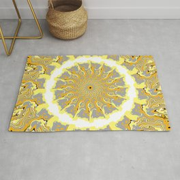 Orange and Yellow Kaleidoscope 2 Rug
