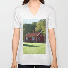 Swedish Cottage  Unisex V-Neck