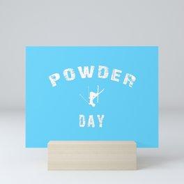 Powder Day Light Blue Mini Art Print