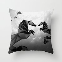 sea horse Throw Pillows featuring Sea Horse by JPeG