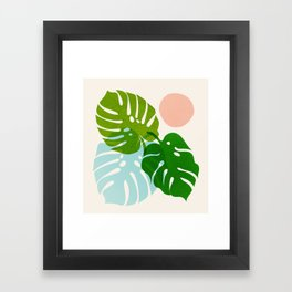 Abstraction_FLORAL_NATURE_Minimalism_001 Framed Art Print