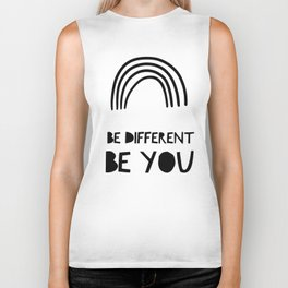 Be Different, Be You Biker Tank