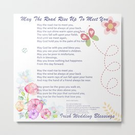 The Irish Wedding Blessing Metal Print