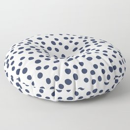 Dark blue vector doodle circle dot Floor Pillow