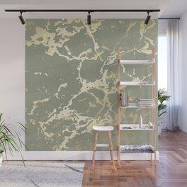 Kintsugi Ceramic Gold on Green Tea Wall Mural