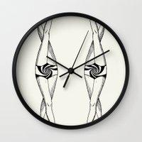 legs Wall Clocks featuring Legs by Ilya kutoboy