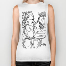 Boys kiss too Biker Tank
