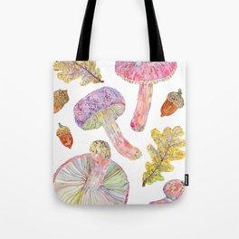 Wild Mushrooms - Russulas and Oak Tote Bag