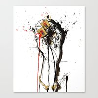 ysl Canvas Prints featuring YSL by Sasha Spring Illustration