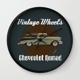 Vintage Wheels: Chevrolet Nomad Wall Clock