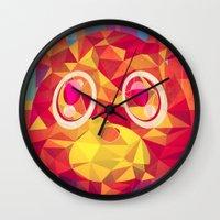 teddy bear Wall Clocks featuring TEDDY by Original Bliss