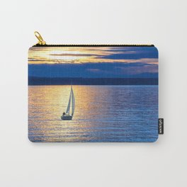 Sailing vessel in the sea. Carry-All Pouch