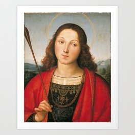 "Raffaello Sanzio da Urbino ""Saint Sebastian"", 1501-1502 Art Print"