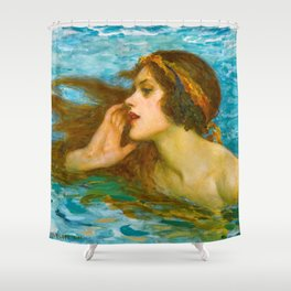 A Little Sea Maiden - William Henry Margetston Shower Curtain