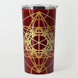 Metatrons Cube, Flower of life, Sacred Geometry Travel Mug